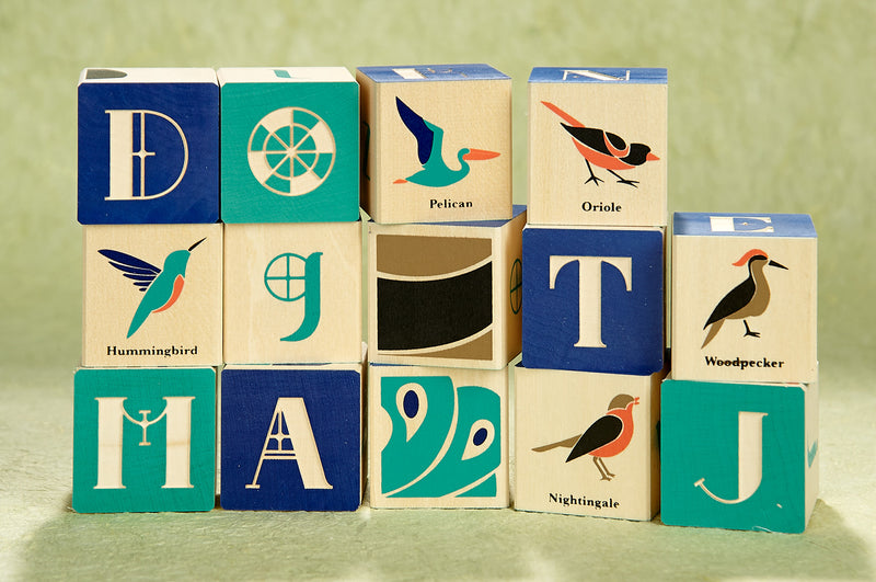 Birds Wooden Blocks