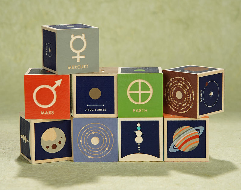 The Planets Wooden Blocks