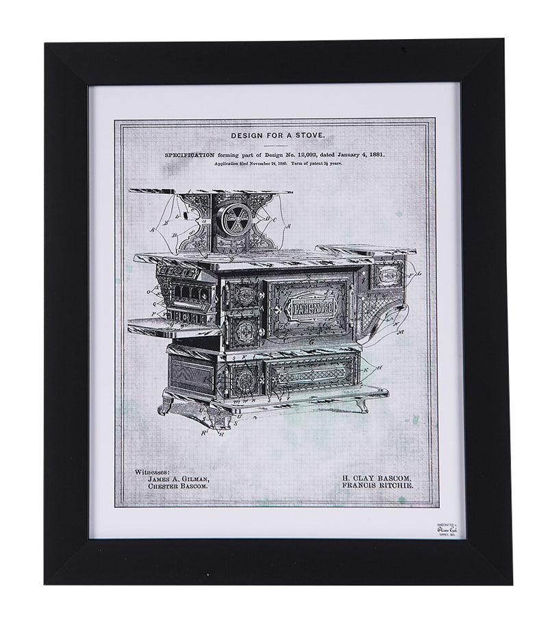 Toy Stove Patent Sketch Framed Print