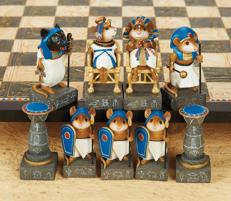 Egyptian Mouse Chess Set, by Wee Forest Folk