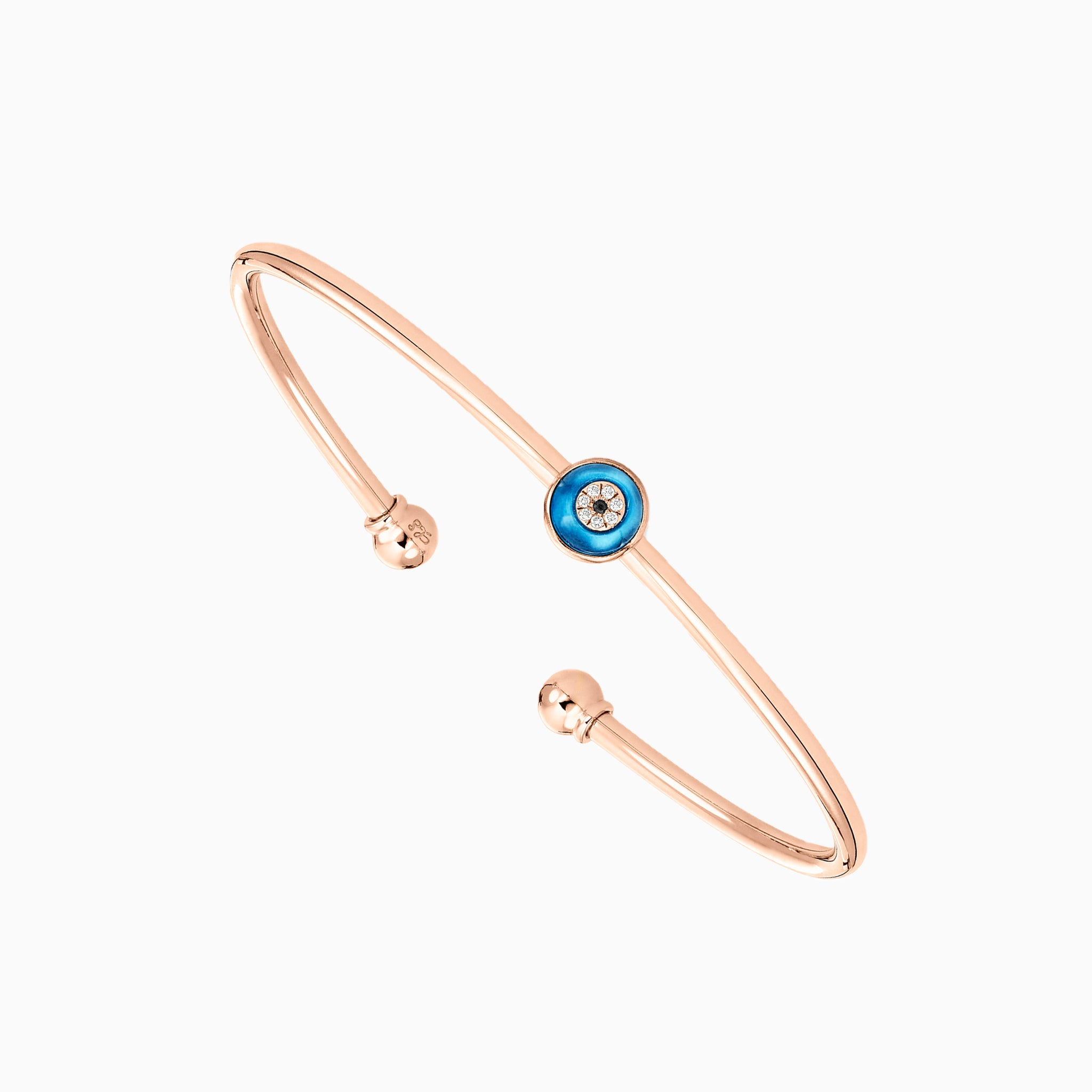 Against Evil Eye Open Spring Cuff