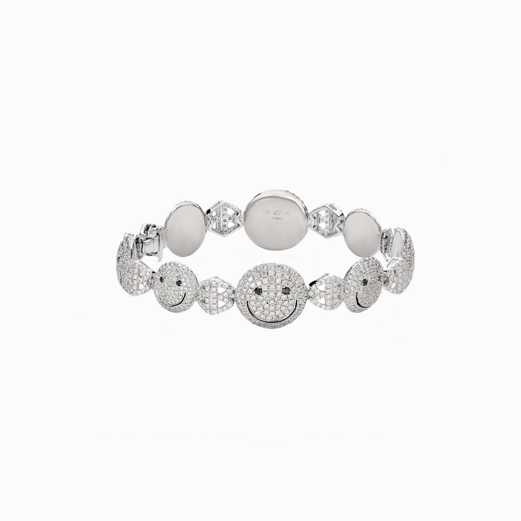 2B Happy All Pave Mixed Face Bracelet