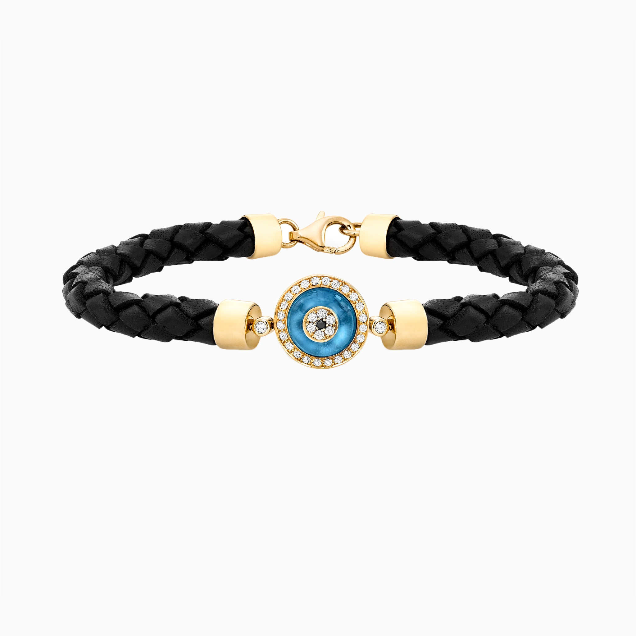 Against Evil Eye Braided Cord Bracelet