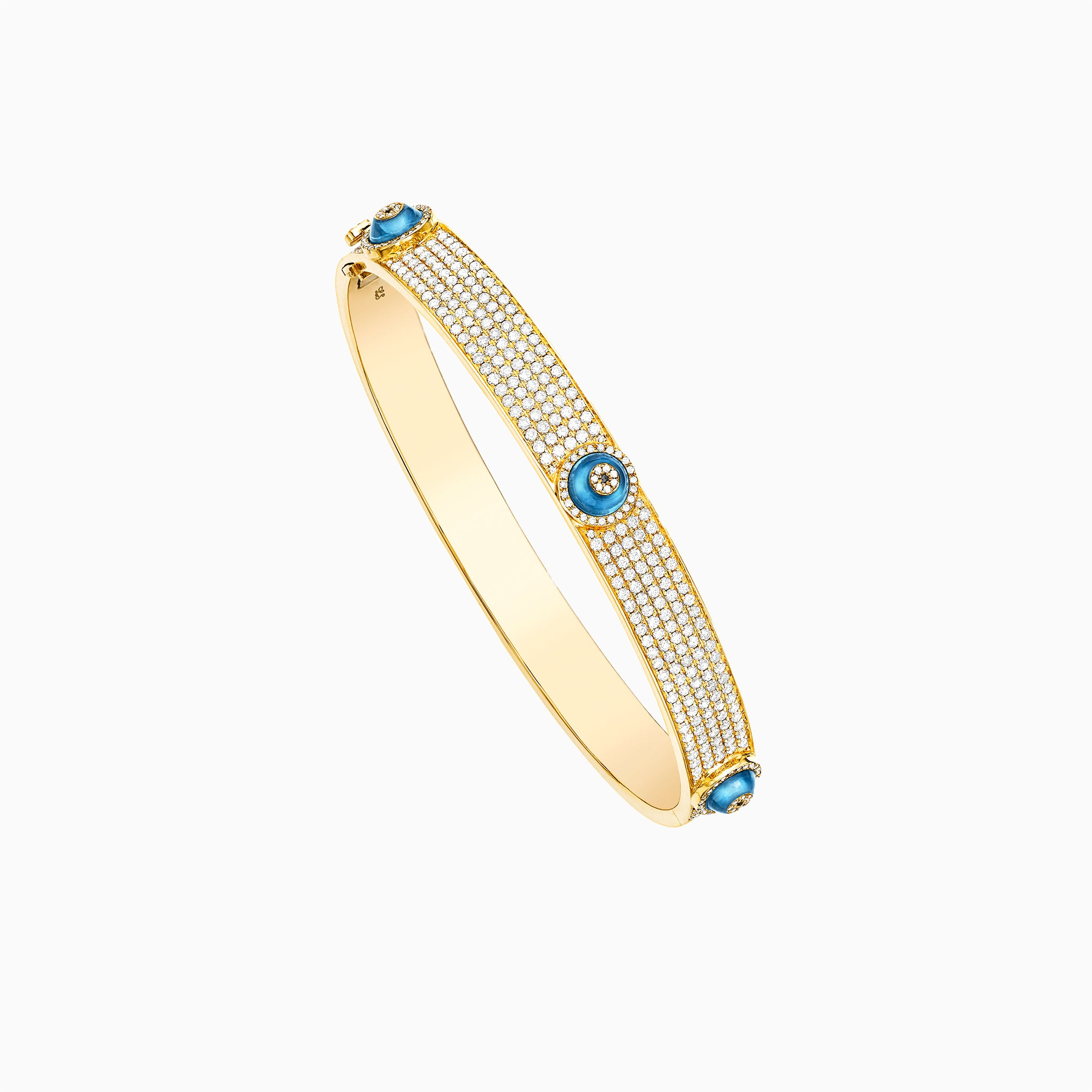 Against Evil Eye All Pave Bangle