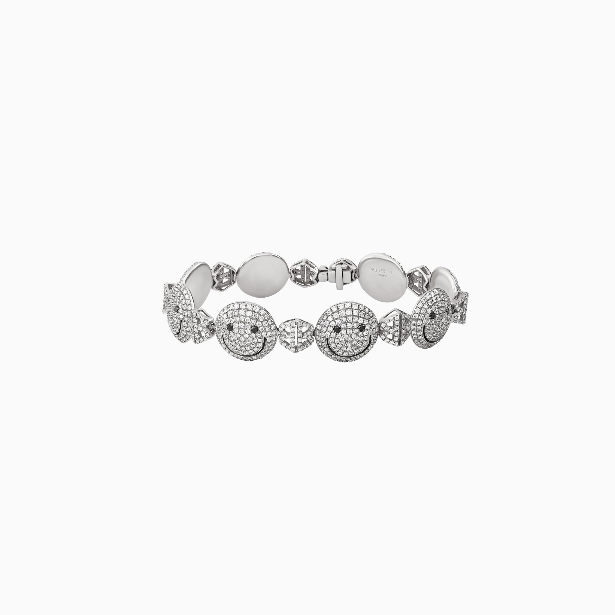 2B Happy All Pave Medium Face Bracelet