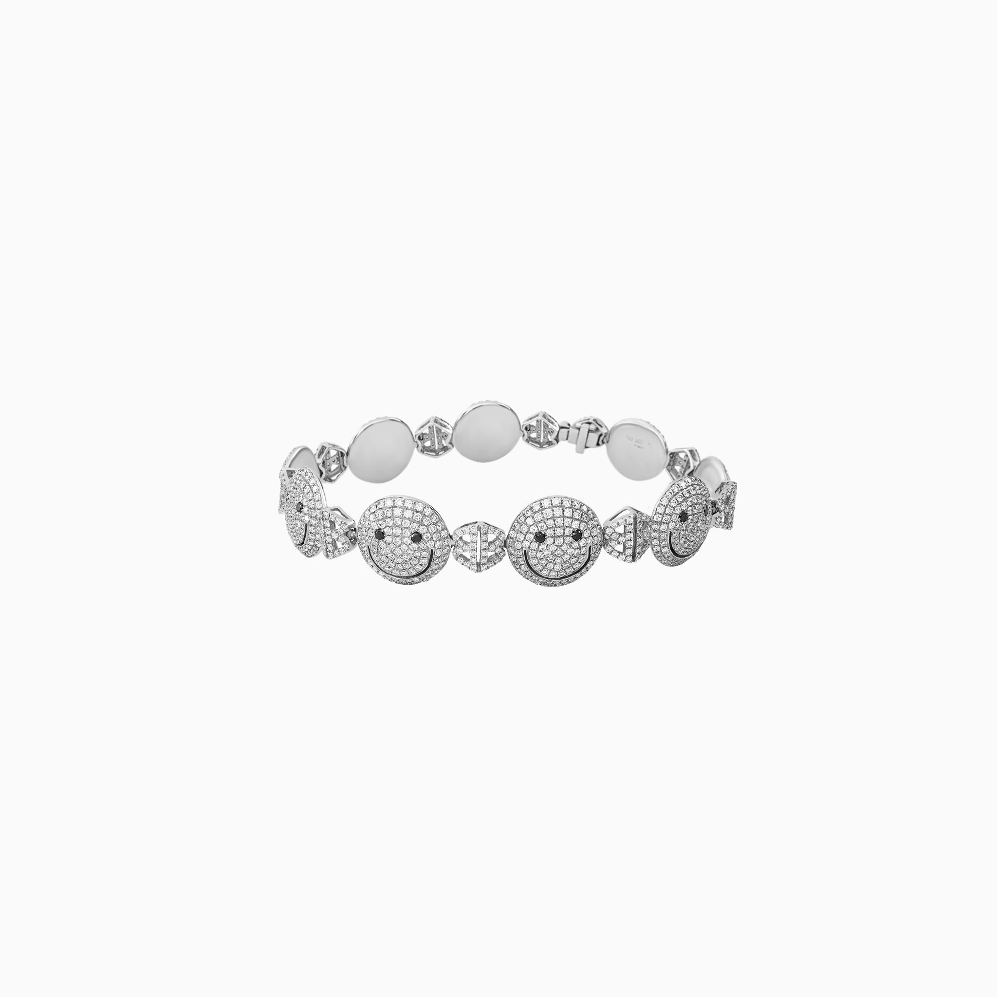 2B Happy All Pave Small Face Bracelet