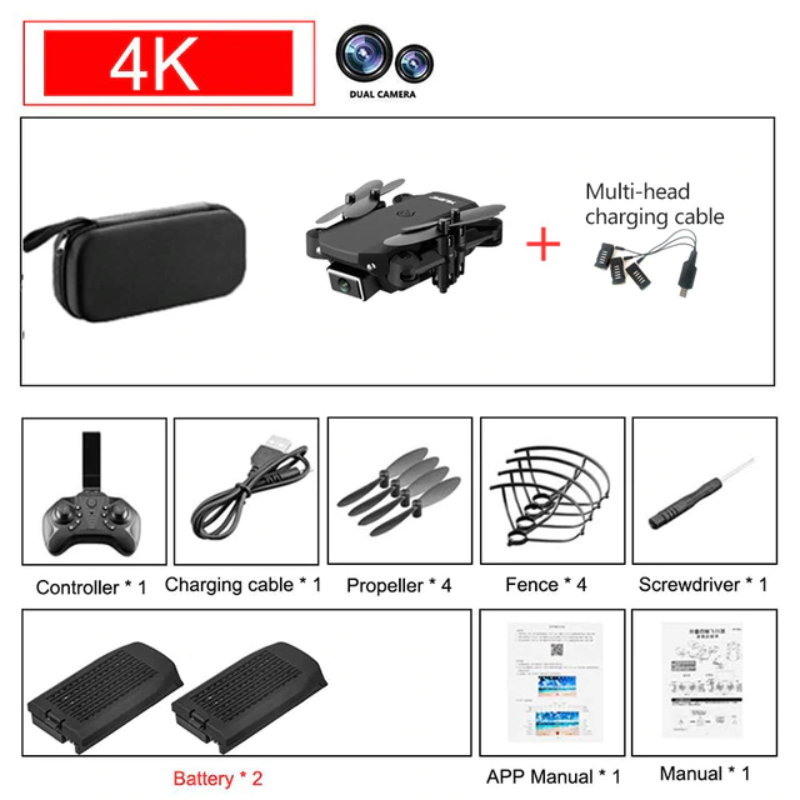 KING Remote Control Camera Drone Mini - Best Tech & Toys