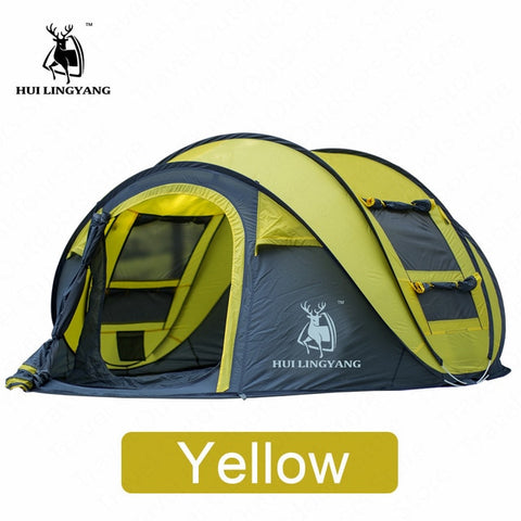 HUILINGYANG Tent Quick Open Automatic Camping Tent 3-4 Persons Outdoor Large Spaces Windproof Camping Picnic Family Tent
