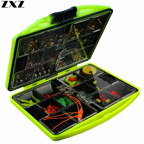 184pcs 24 Kinds Portable Rigs Rock Fishing Accessories Set Surf Casting Soft Lures Box Swivel Jig Lead Hooks Kit Tools Tackle