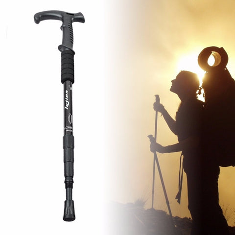 Retractable Anti Shock Walking Sticks Telescopic Trekking Hiking Poles Ultralight Sports Camping Mountaineering Canes Crutch New