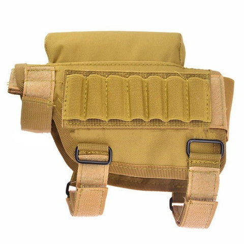 Hot! Nylon Portable Adjustable Tactical Butt Stock Rifle Cheek Rest Pouch Bullet Holder Bag  Hunting Gun Accessories CX76