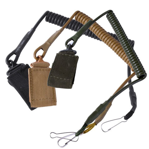 Airsoft Gun Sling Tactical Single Point Pistol Spring Lanyard Rifle Sling Quick Release Hunting Accessories Strap Army Gear