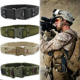 100-135cm Military Material Tactical Belt Durable Outdoor Men Hunting Utility Heavy Duty Training Waist Belt Hunting Accessories