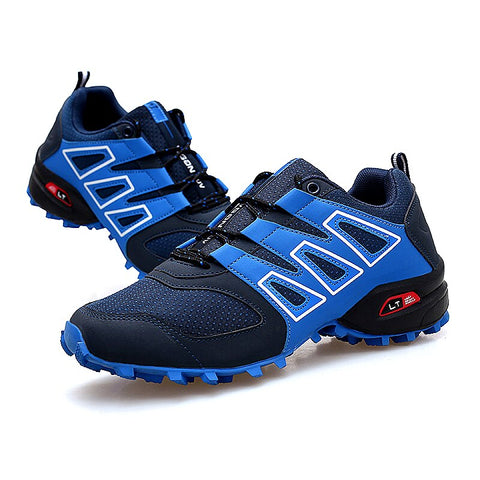 2019 Men Outdoor Trekking Shoes Plus Size Mountain Climbing Sneakers Black Gray Hunting Shoes Mens Hiking Trail Footwears
