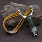 Newest Powerful Sling Shot Aluminium Alloy Slingshot Camouflage Bow Catapult Outdoor Hunting Shooting Slingshot