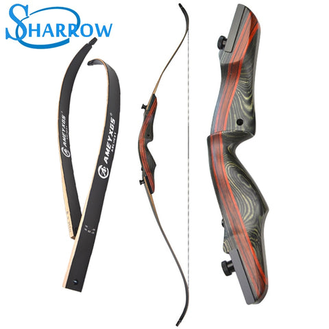 "62"" Recurve Bow 20-50lbs Takedown Bow Wood Longbow Archery Hunting Bow Shooting High-strength Maple Handle slingshot"