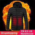 High Quality Outdoor Sport USB Electric Long Sleeves Heated Winter Thermal Warm Hooded Jackets Vest Coat Down Cotton Mens Women