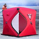 Large Space 3-4People Quick-open Push-pull Plus Cotton Warm Outdoor Winter Ice Fishing Thickening Tent Camping Tent Fishing Tent