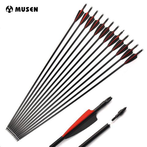 6/12/24 Pcs 30 inches  Fiberglass Arrows For Compund Bow Recurse Bow Spine 500 Diameter 8 mm Hunting Shooting Archery