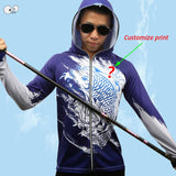 Customize Outdoor Sport Anti UV Fishing Clothing Men Printed long Sleeve Breathable Shirts Quick Dry Coat Hooded Fishing Jackets