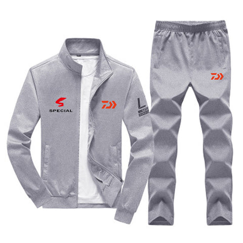 DAIWA Fishing Clothing Set Spring Autumn Outdoor Sport Camouflage Hiking Fishing Shirt And Pants Men Plus Size Fishing Jacket