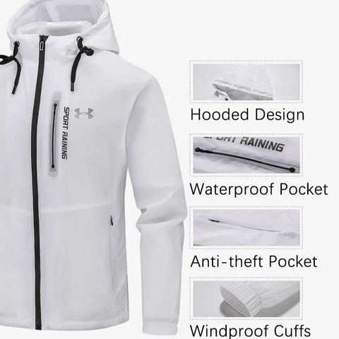 Ice silk Water Repellent Fishing Men Clothes Tech Hydrophobic Clothing  Listing Outdoor Camping Hooded Jackets XL-5XL jooyoo
