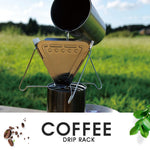 Stainless Steel Coffee Dripper Holder Foldable Coffee Filter Rack Camping Hiking Picnic Pour Over Coffee Drip Cone