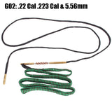 New Gun Cleaning Rope with Brass Brush 12 GA .22 Cal .223 Cal.38 Cal & 5.56mm Brass Rifle Pistol Gun Boresnake Hunting Accessory