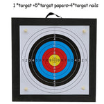 Archery Shooting Target Set 50 * 50 * 5cm EVA Foam Target With Target Papers Nails Outdoor Sports Hunting Archery Accessories