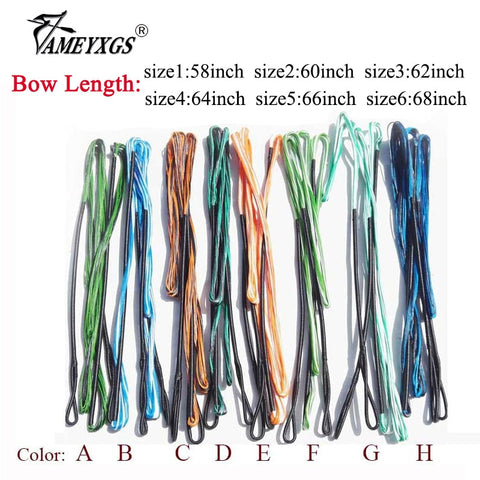 1pc Archery 16 Strands Bowstring 58-68inch Recurve Bow Traditional Bow Longbow Replacement String Shooting Hunting Accessories