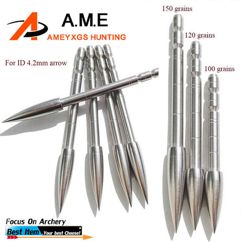100/120/150 grain 30 pcs Point Arrowheads Carbon steel Target Broad head For Archery Arrows  Hunting Accessories Arrow Bow