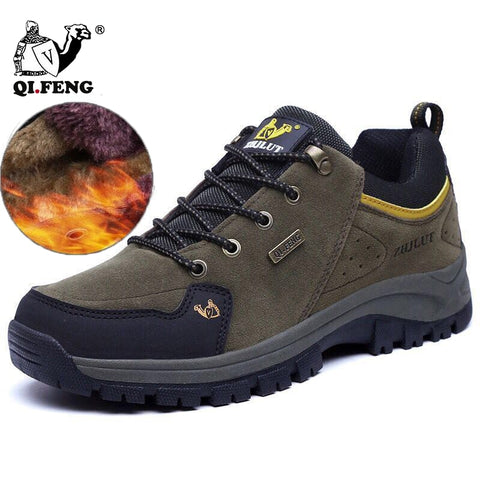 Men Women Hiking Boots Wear Resisting Casual Shoes Non-slip Sneakers Mountain Climbing Trekking Footwear Couple Walking Outdoor