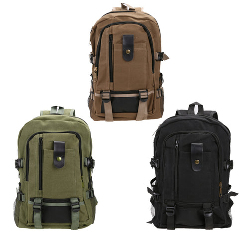 2016 New Canvas Schoolbag Hiking Backpack Outdoor Sports Bag Travel Rucksack Mountaineering Bag Men's Travel Bags Back pack