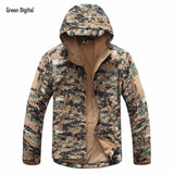 New Digital Camouflage Tactical Gear Military Army Jacket Men Softshell Waterproof Hunting Clothes Winter Sport Outdoor Jackets