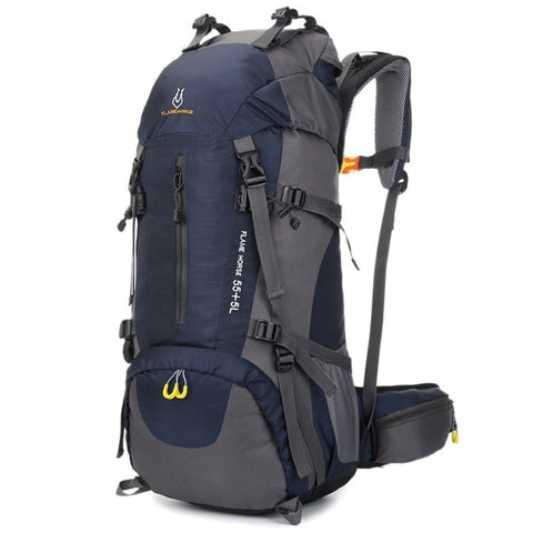 60L Large-Capacity Camping Hiking Backpacks Lightweight Outdoor Sport Bag Waterproof Backpack Man Travel Back Pack Alloy Support