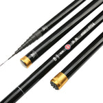 High Carbon 8m 9m 10m 11m 12m 13m Power Hand Pole Fishing Rod Ultra Hard Super Light Telescopic Rod Stick Spare tip A119
