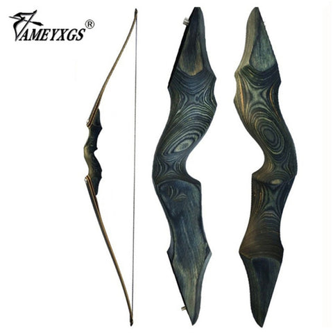 30-60bls 60 Inch Archery Black Hunter Recurve Bow Left Right Hand Glassfiber Sheet Lamination Process for Hunting Shooting Bow