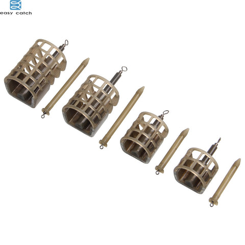 EASY CATCH 5pcs 25g 30g carp Fishing Feeder tackle bait thrower food holder Cage for ice fishing equipment tackle