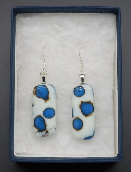 Earrings | Midi | Reactive Blue Polka-Dots