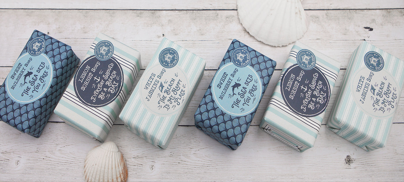 Highly fragranced, moisturising, triple milled soap, enriched with shea butter.