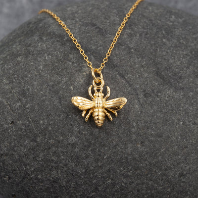 The Sea Shed Sterling silver Gold Vermeil Honey Bee Pendant