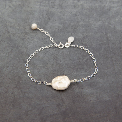 The Sea Shed Sterling Silver & Keshi Pearl Bracelet