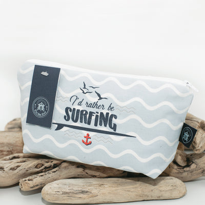 The Sea Shed - I'd rather be surfing - Cosmetic Bag