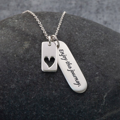 Enjoy the journey Sterling Silver pendant necklace by The Sea Shed