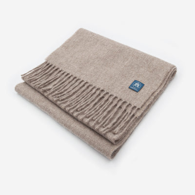 The Sea Shed Lambswool Scarf - Sand