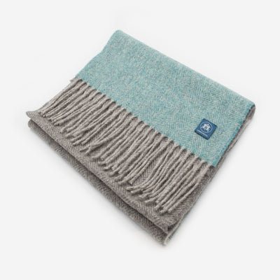 The Sea Shed Lambswool Scarf - Sea Mist