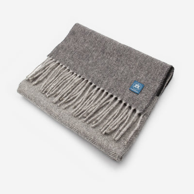 The Sea Shed Lambswool Scarf - Storm