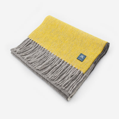 The Sea Shed Lambswool Scarf - Yellow Ochre