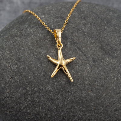 The Sea Shed Sterling Silver & Gold Vermeil Porthmeor Starfish