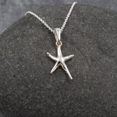 The Sea Shed Sterling Silver Porthmeor Starfish Pendant